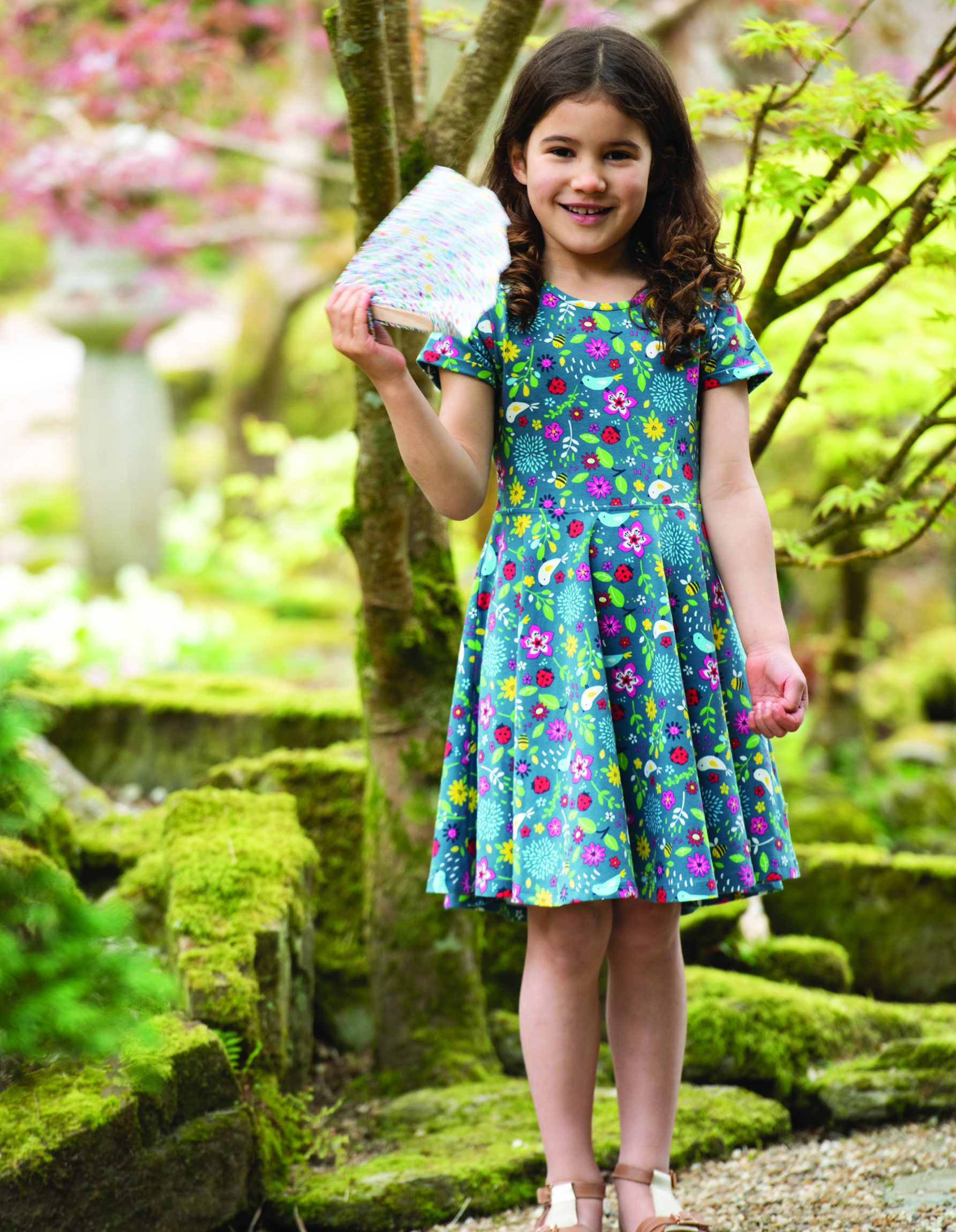 Frugi - Spring Skater Dress - Garden Friends