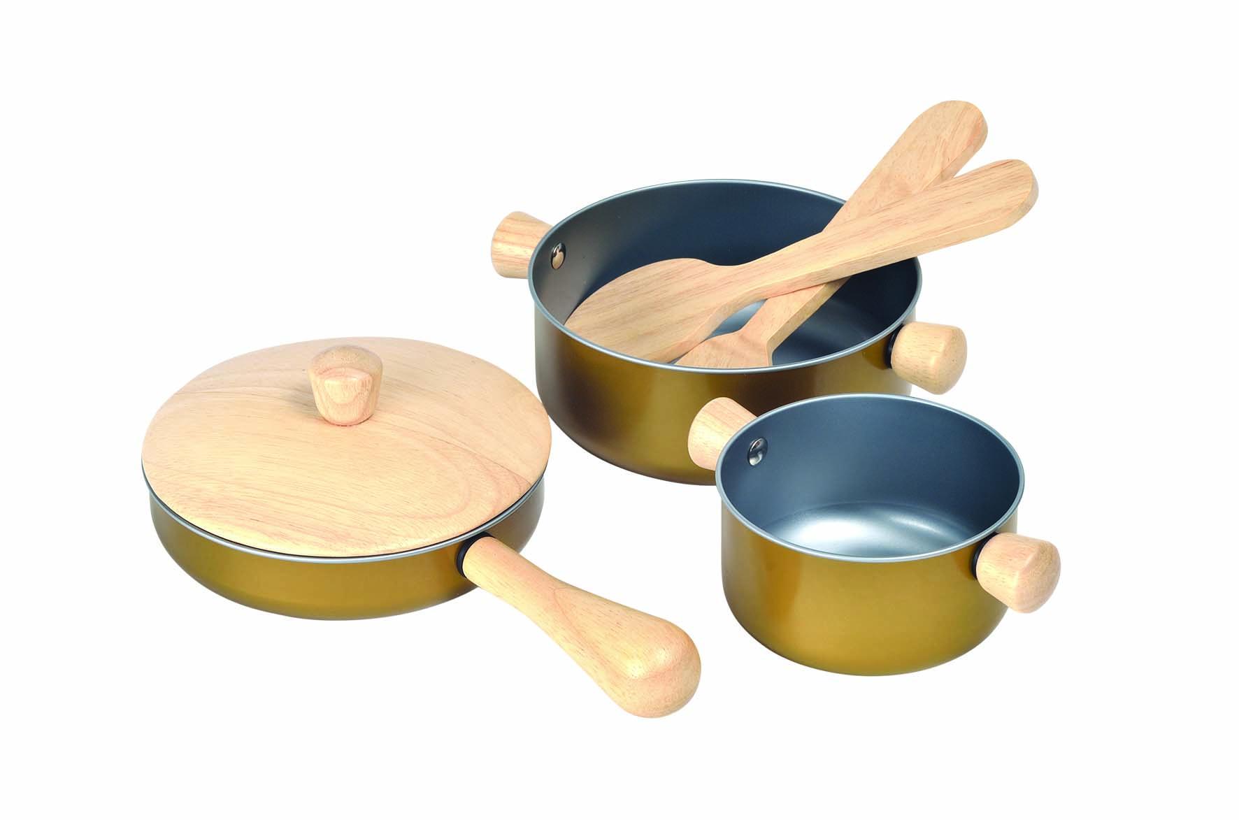 Plan Toys - Cooking Utensils set