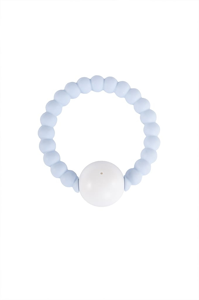 Nibbling - Rattle Ring - Blue & White