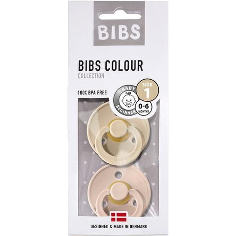 Bibs - Twin Dummy Pack Size 1 Vinilla / Blush
