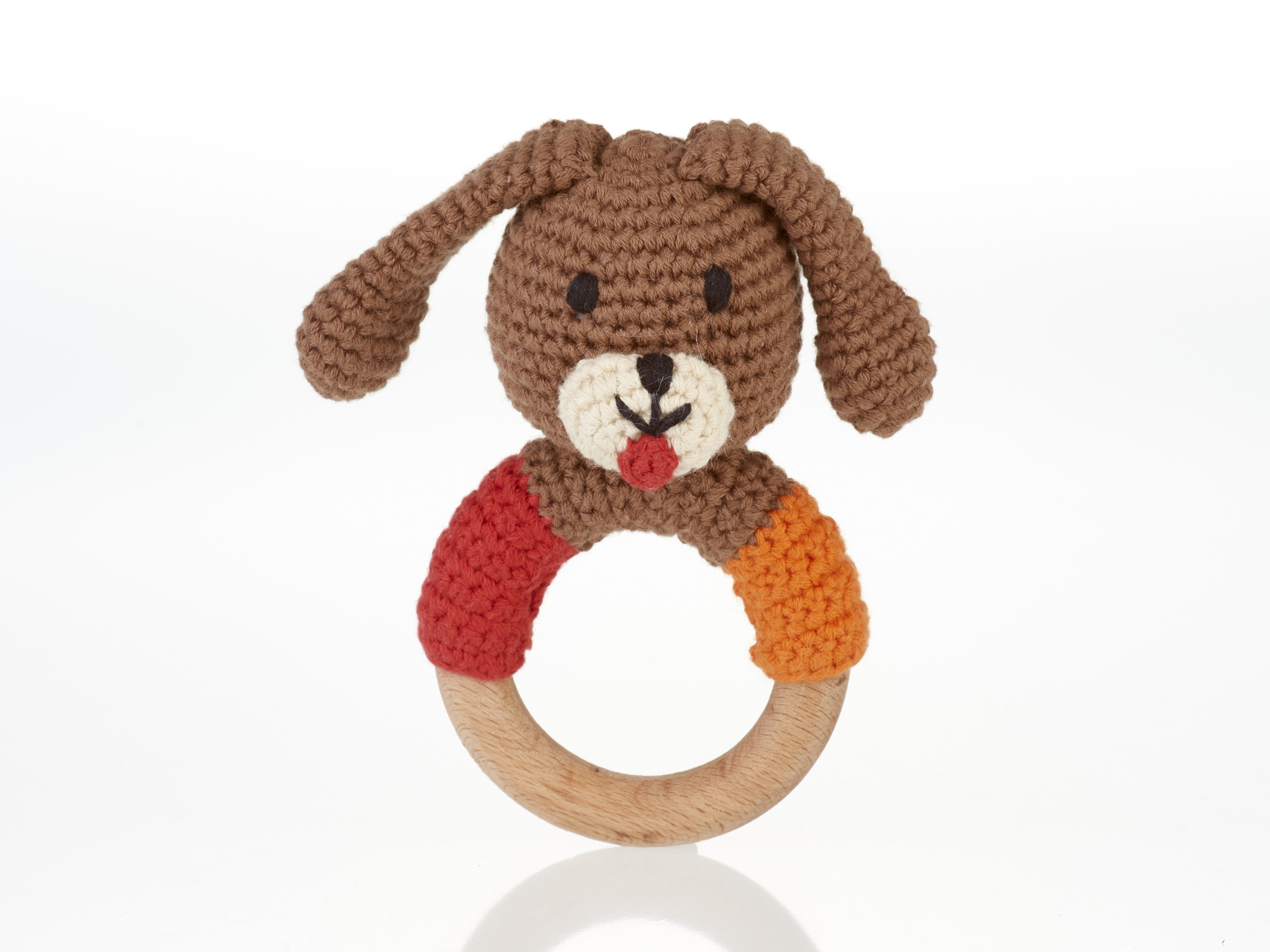 pebble-Wooden ring rattle-dog boy