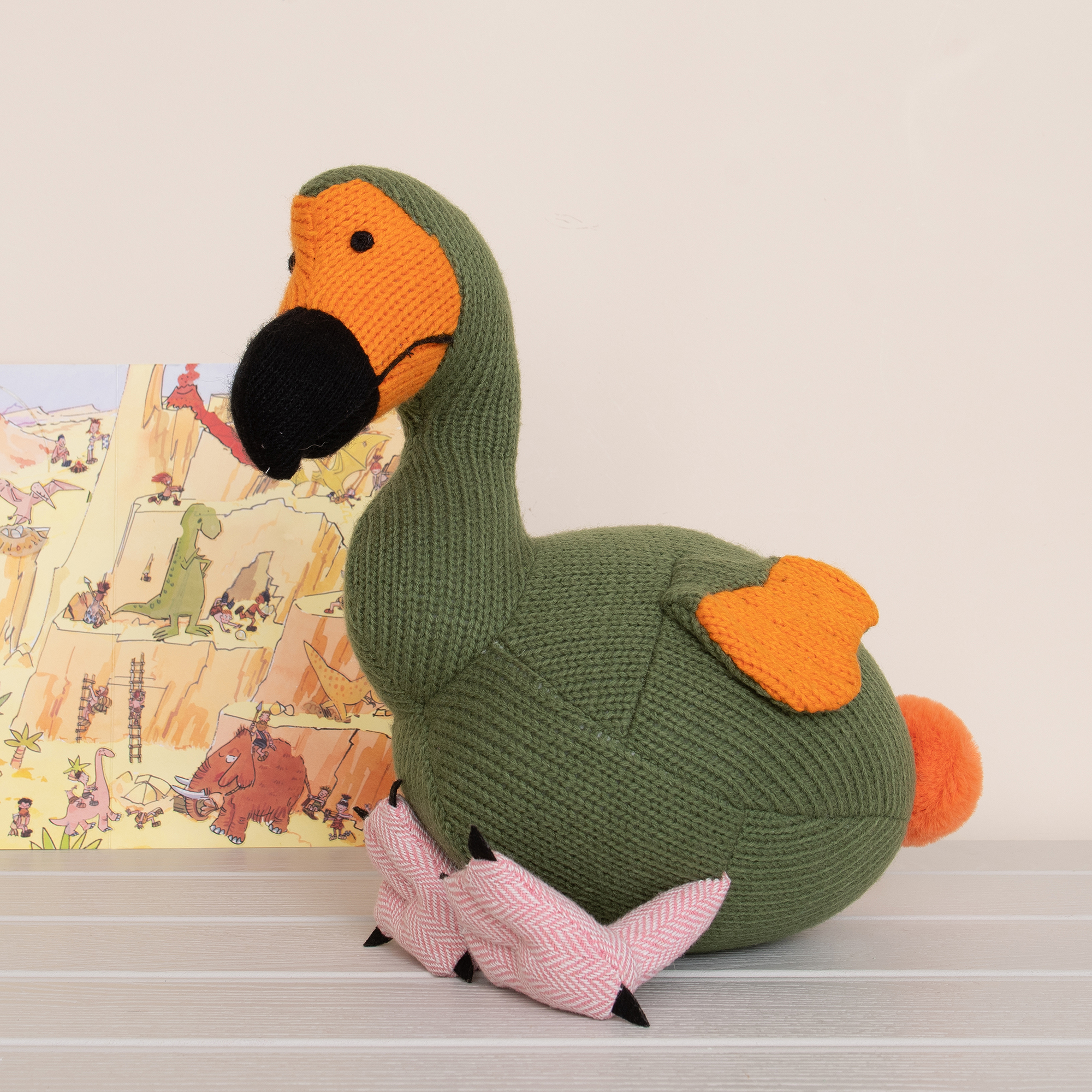 Best Years - Knitted Medium Toy - Dodo - moss green