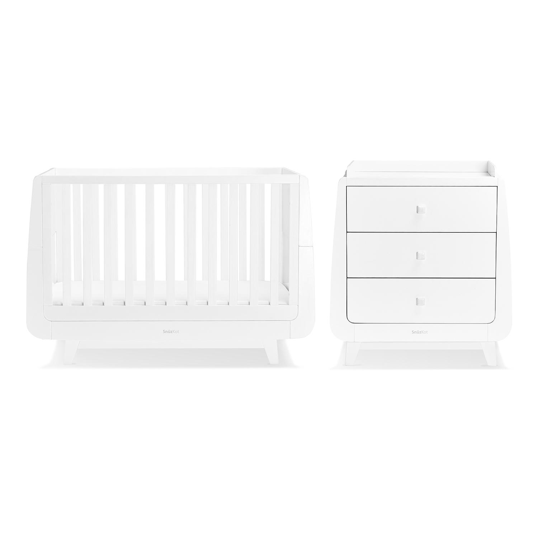 SnuzKot Luxe 2 Piece Nursery Furniture Set - White (SAVE £50)