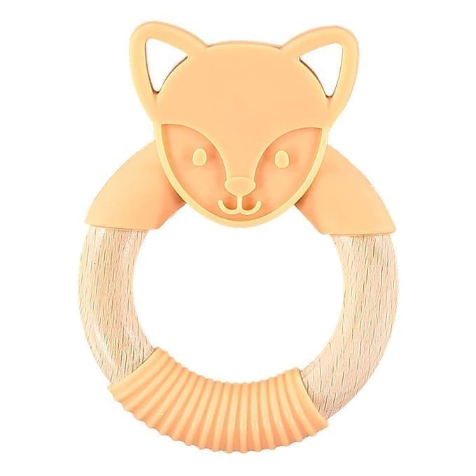 Nibbling - Flex Fox forest friends teething toy  - Orange
