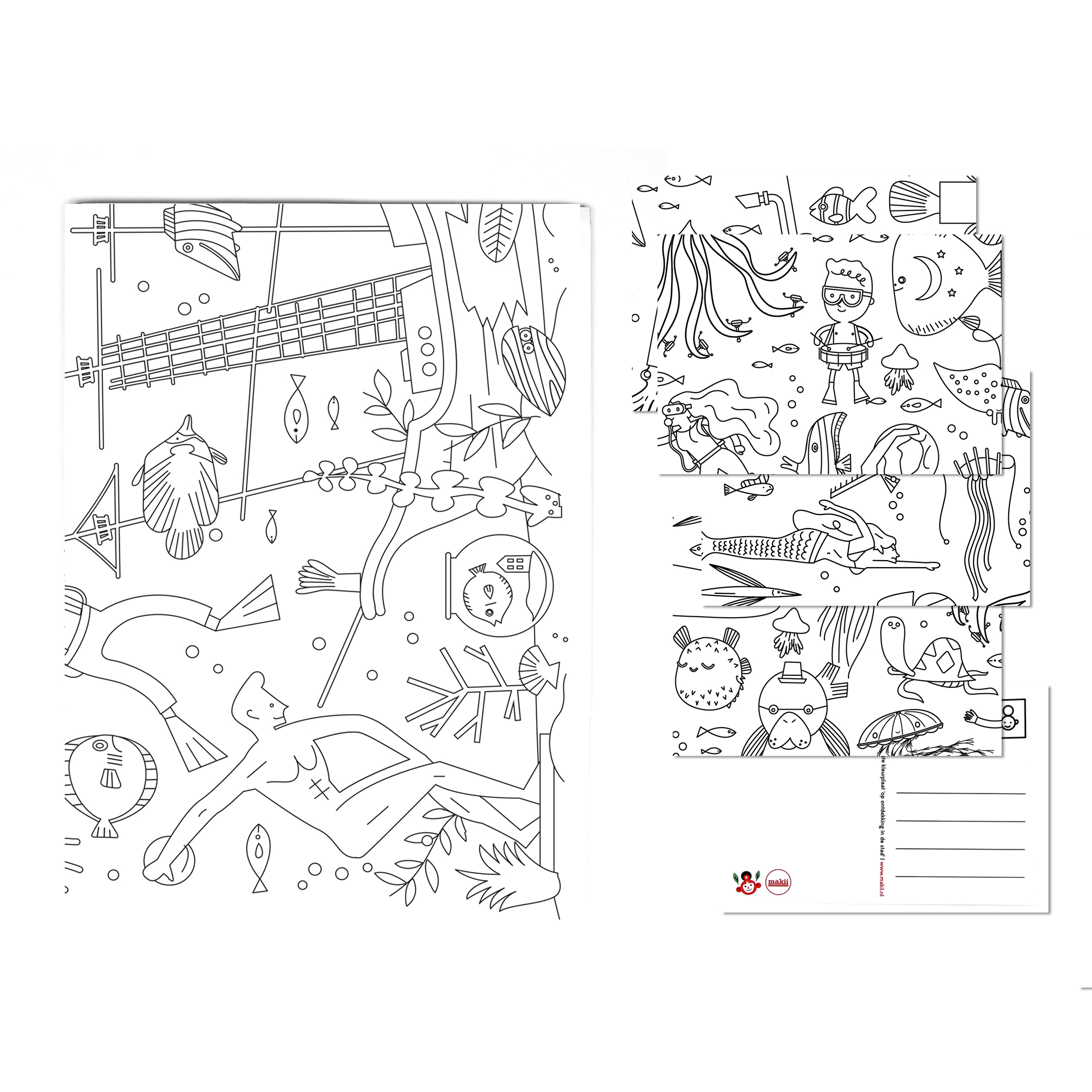 Makii - Giant Colouring Picture - Water