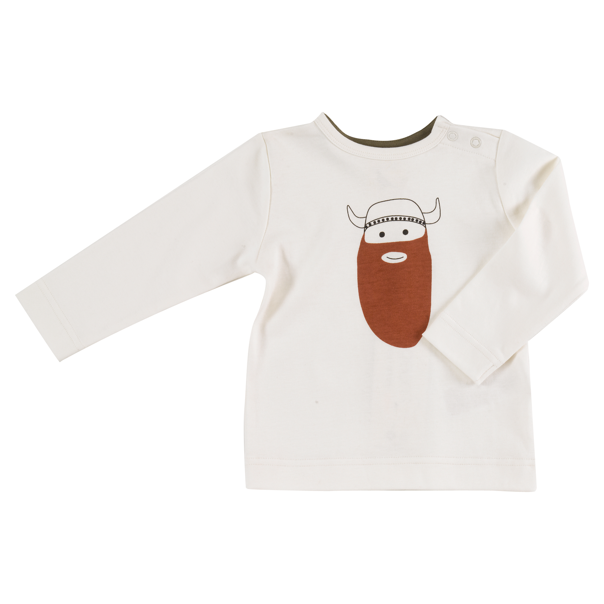 Pigeon - Long sleeve t-shirt - Viking on white