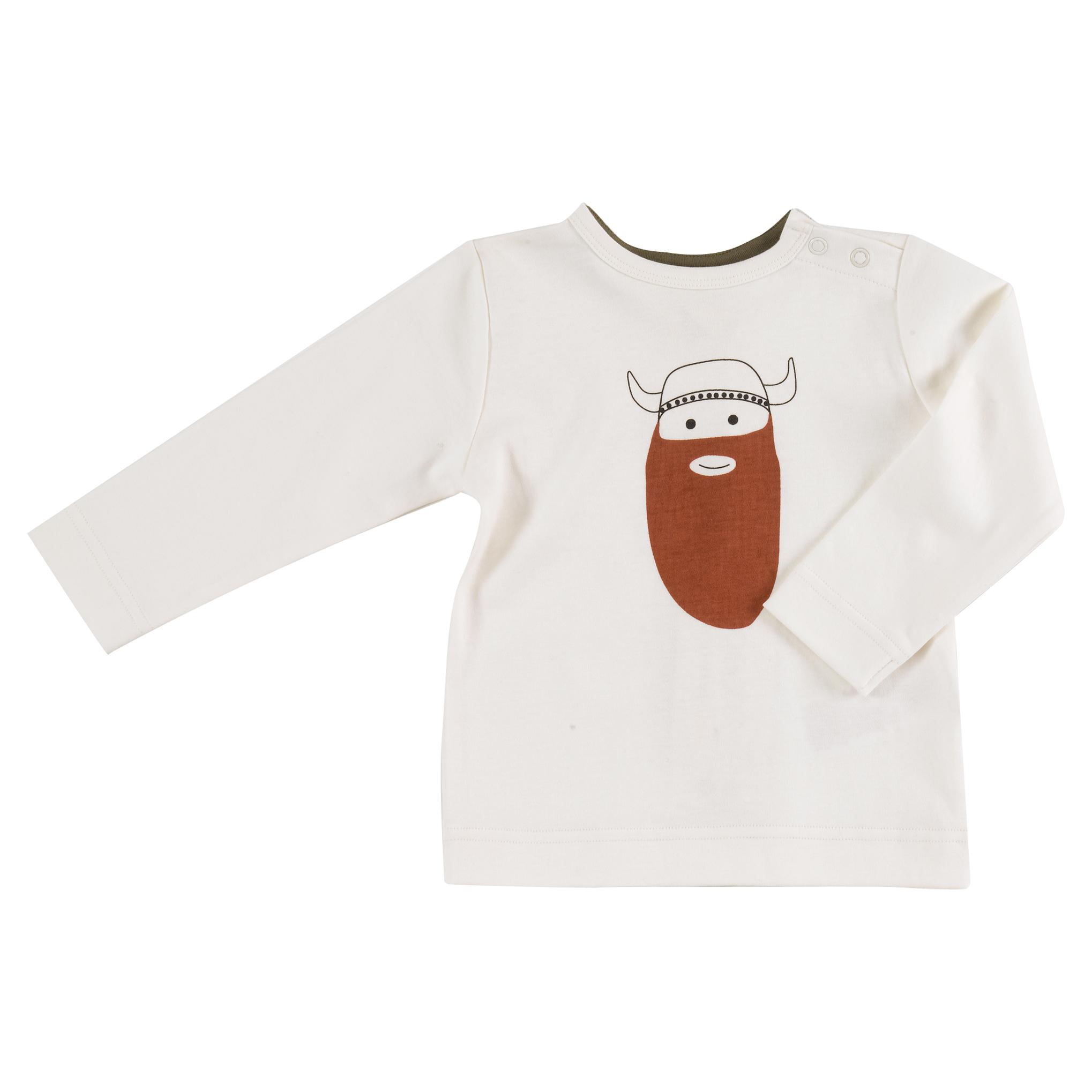 Pigeon - Long sleeve t-shirt - Viking on white