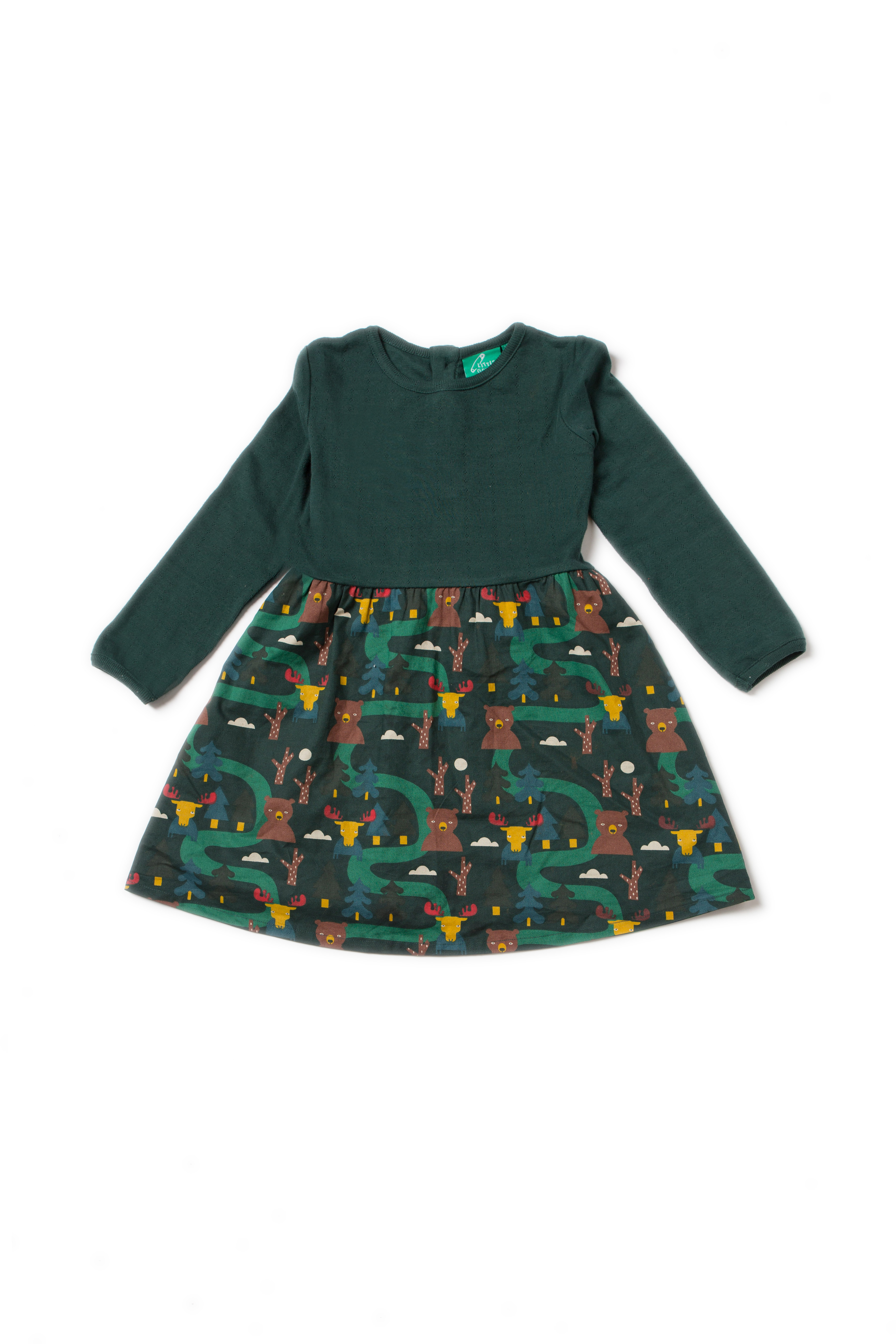Little Green Radicals - Nordic forest little twirler dress