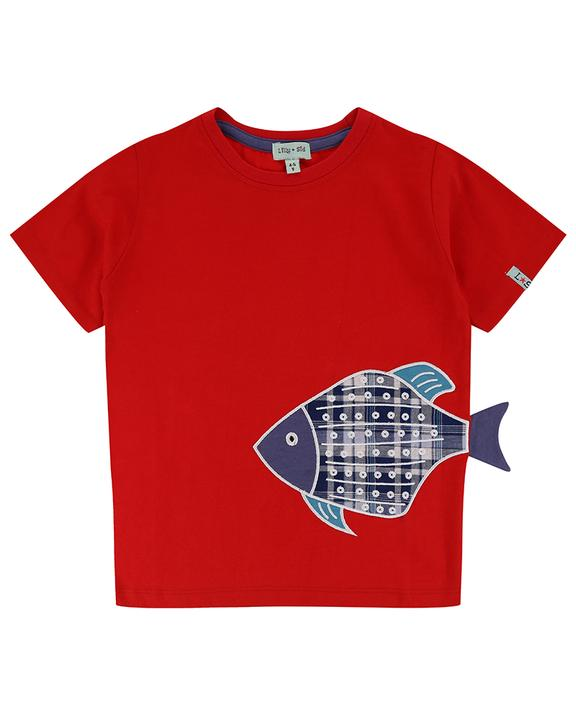 Lilly + Sid - 3-D Fish fin T-shirt