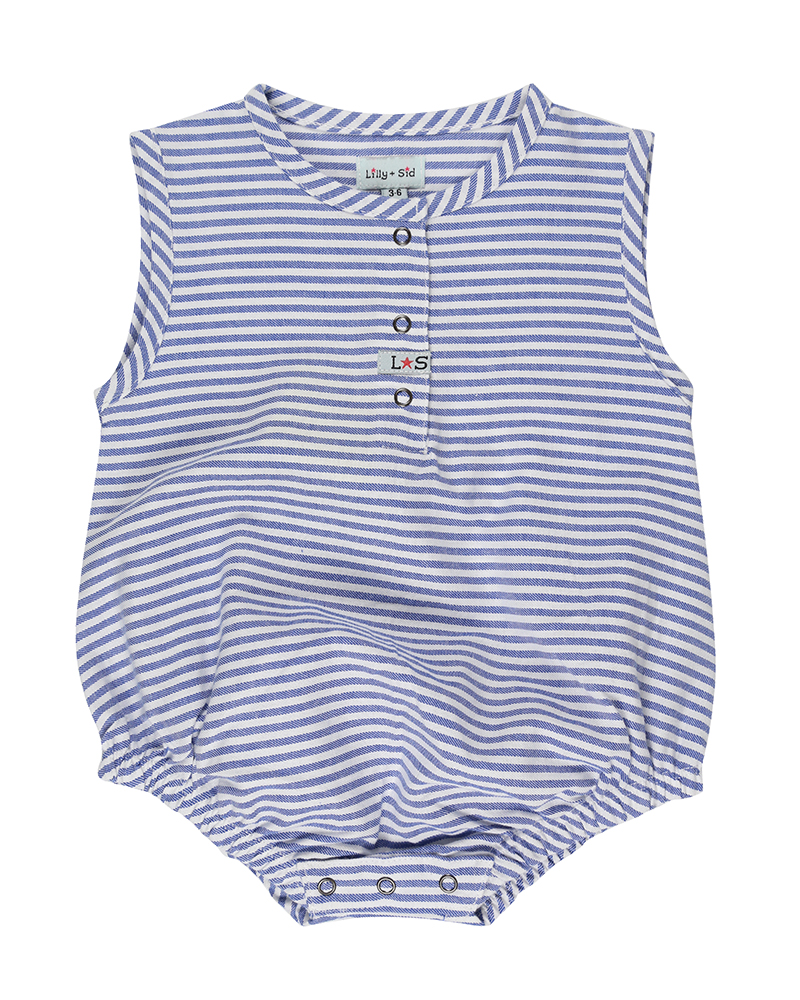 Lilly + Sid - Stripe Bubble Romper