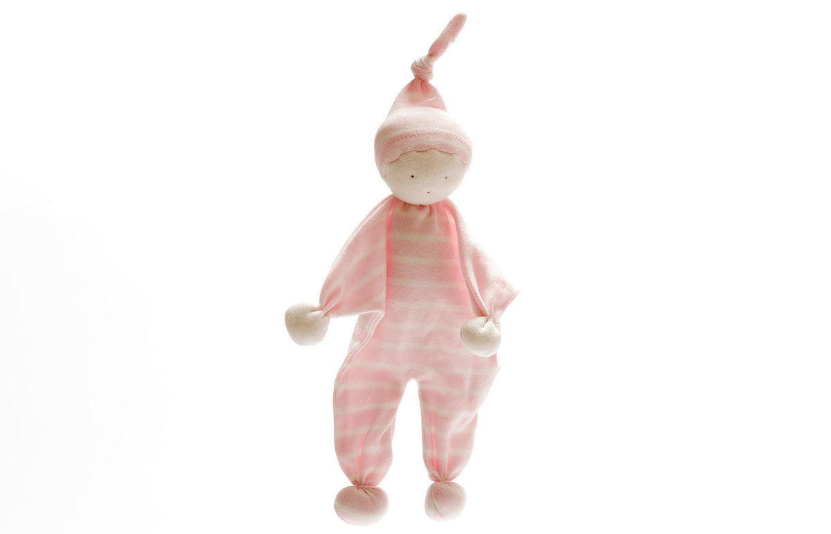 Under the Nile - Organic Baby Buddy – Pale pink wide stripes
