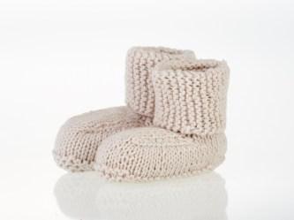 Pebble -  organic baby shoe - natural 0-6 months