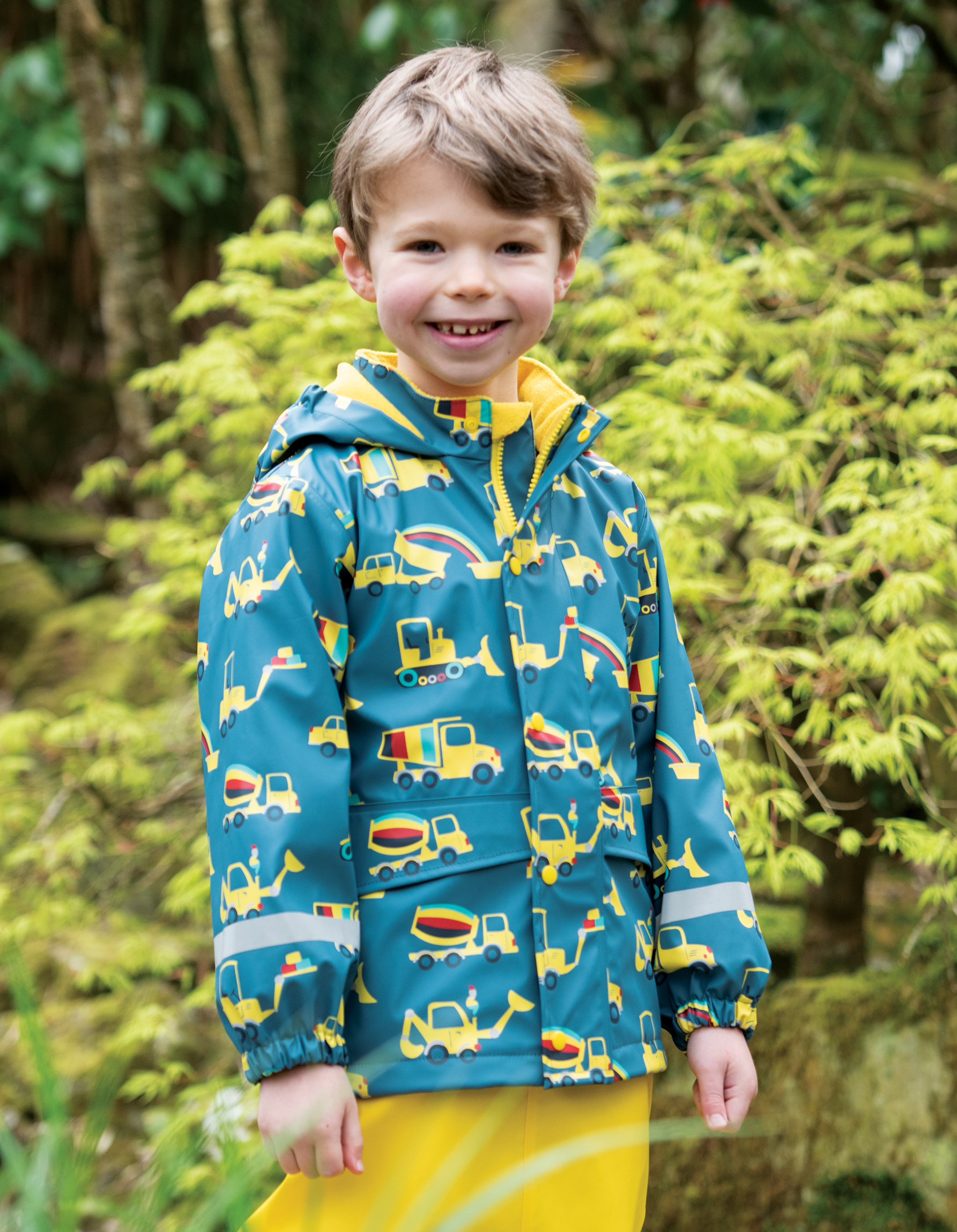 Frugi - puddle buster coat - dig a rainbow