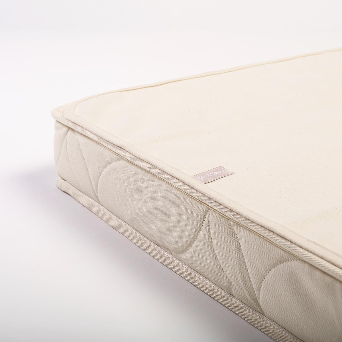 The Little Green Sheep Waterproof SnuzKot 68x117 Cot Bed Mattress Protector