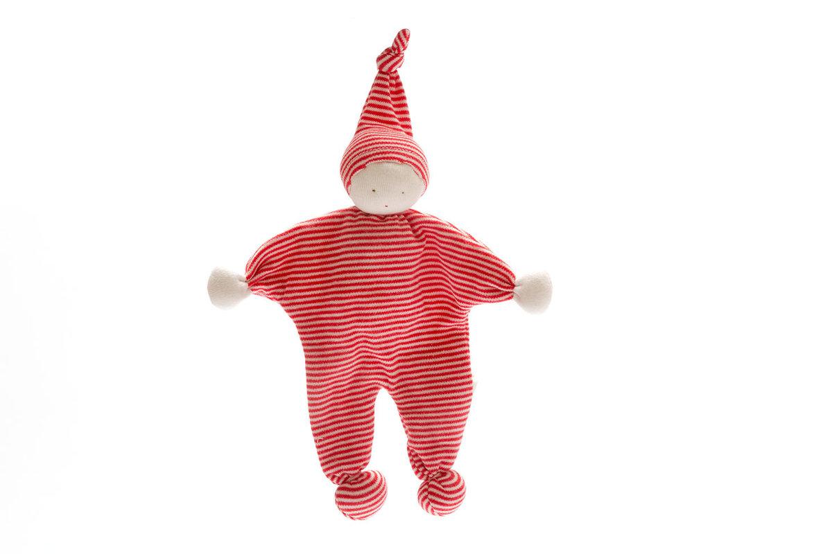 Under the Nile - Organic Baby Buddy – Dark Red Stripe