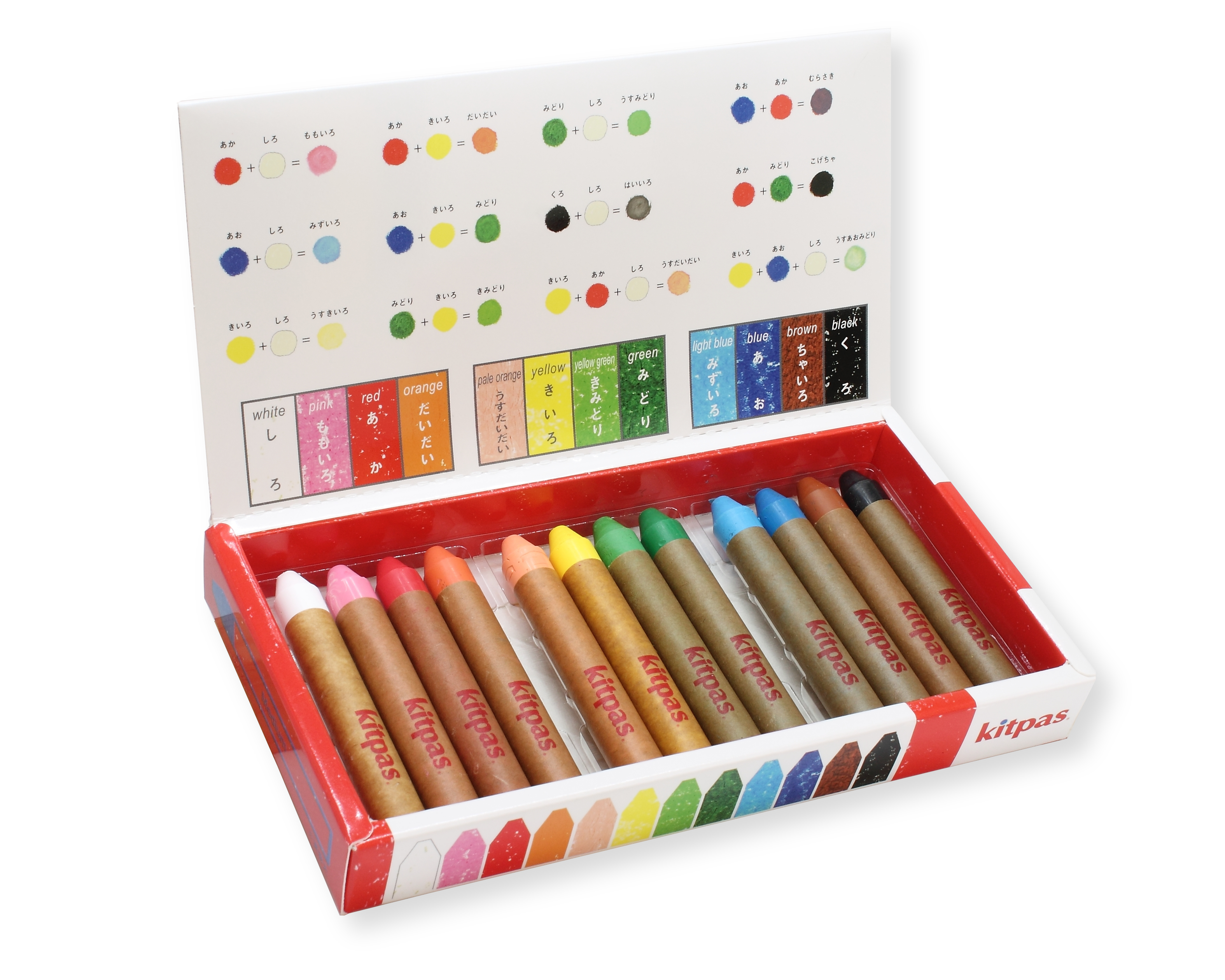 Kitpas - Crayon - 12 Colours medium