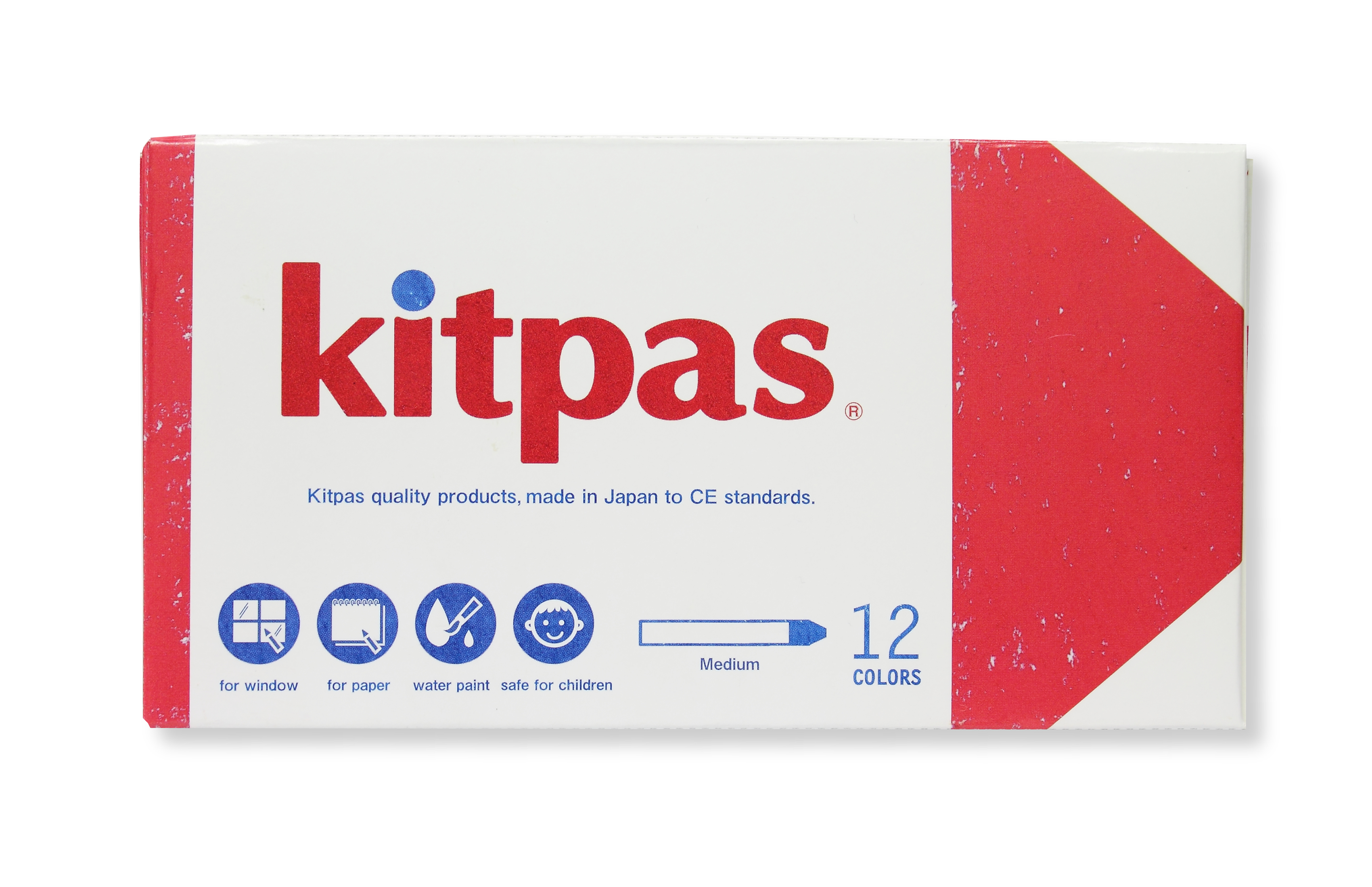 Kitpas - Crayon - 12 Colours medium