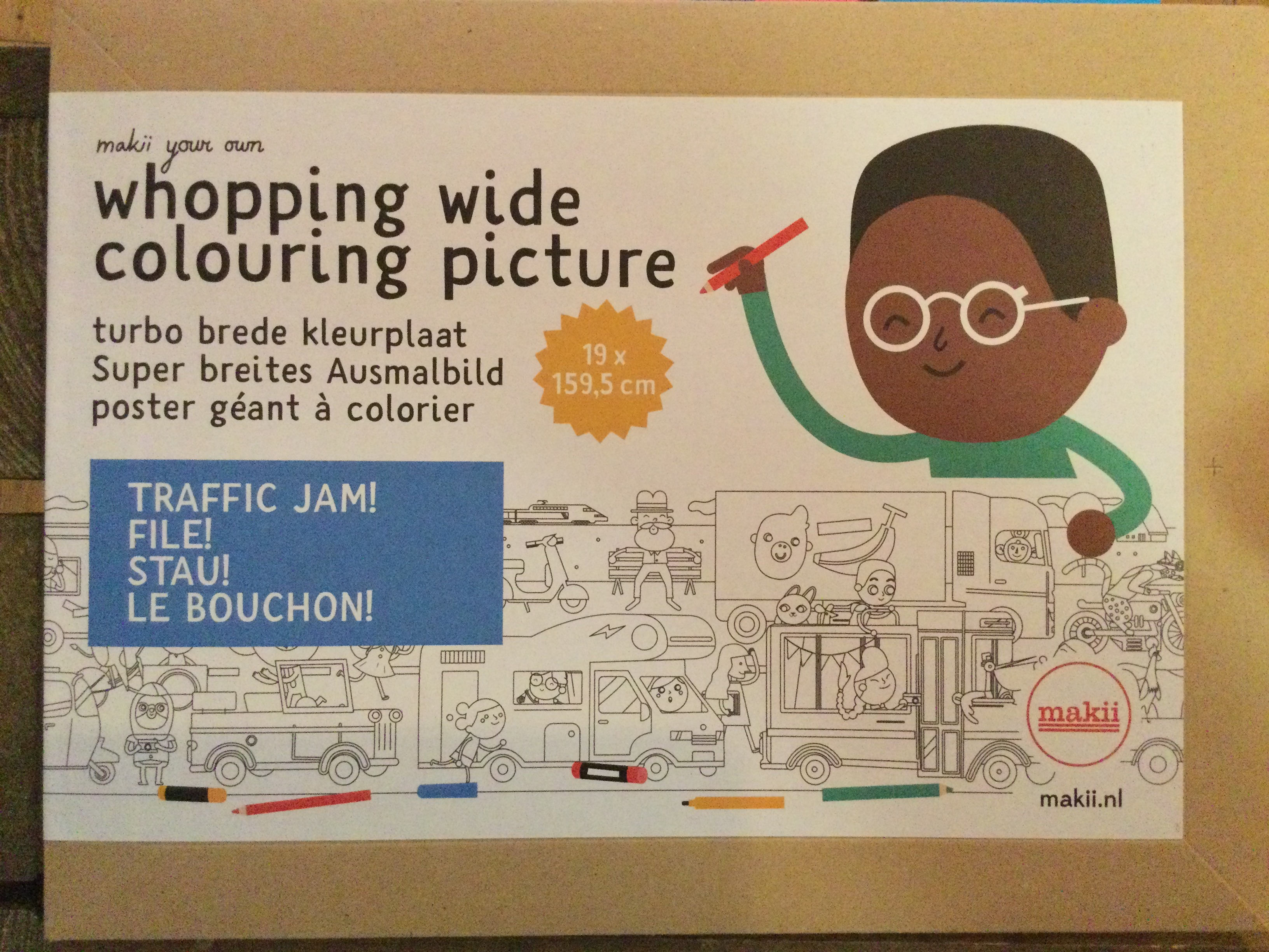 Makii - whopping wide colouring picture- Traffic Jam