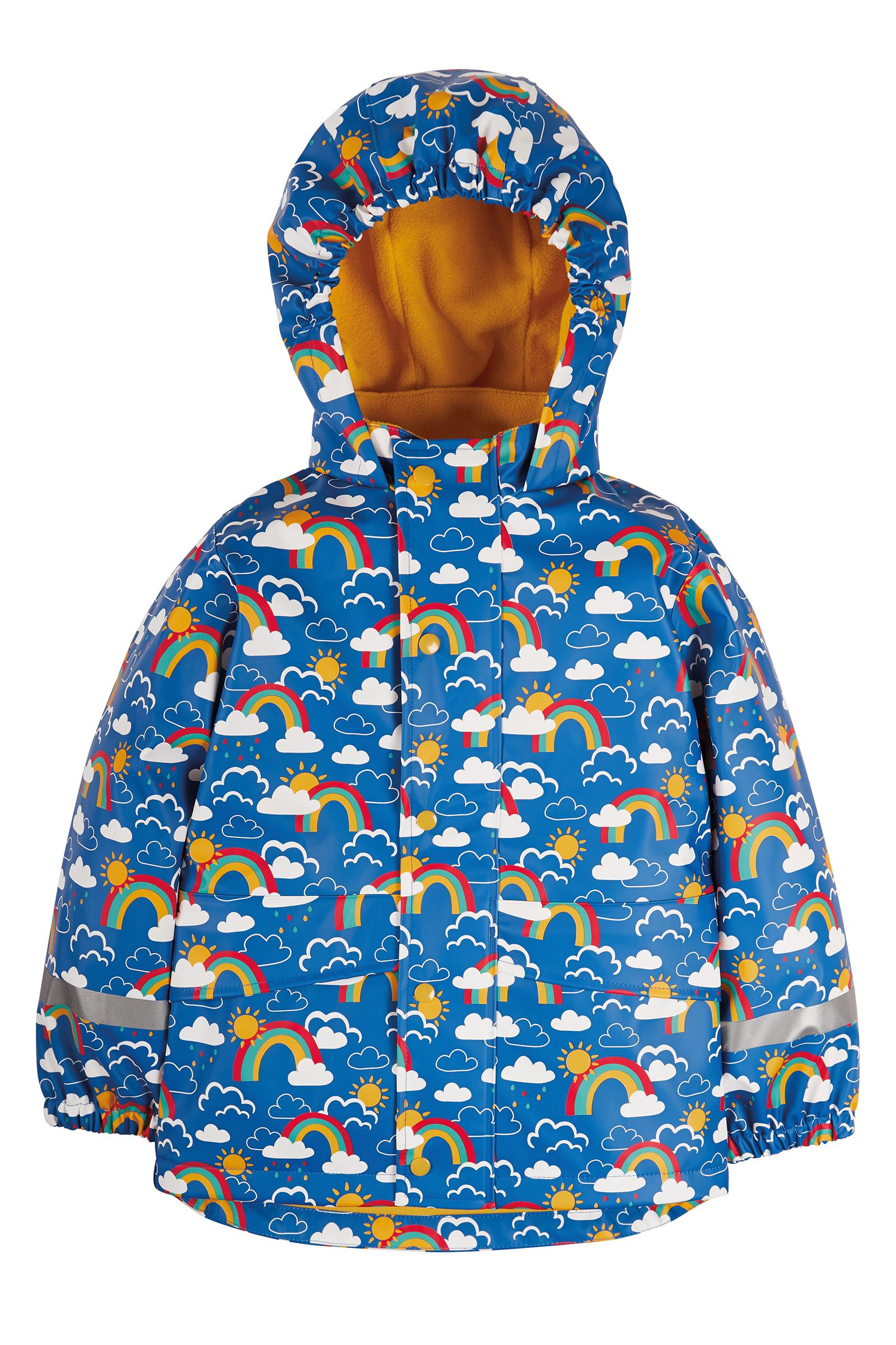 Frugi - Puddle Buster Coat, Rainbow Skies