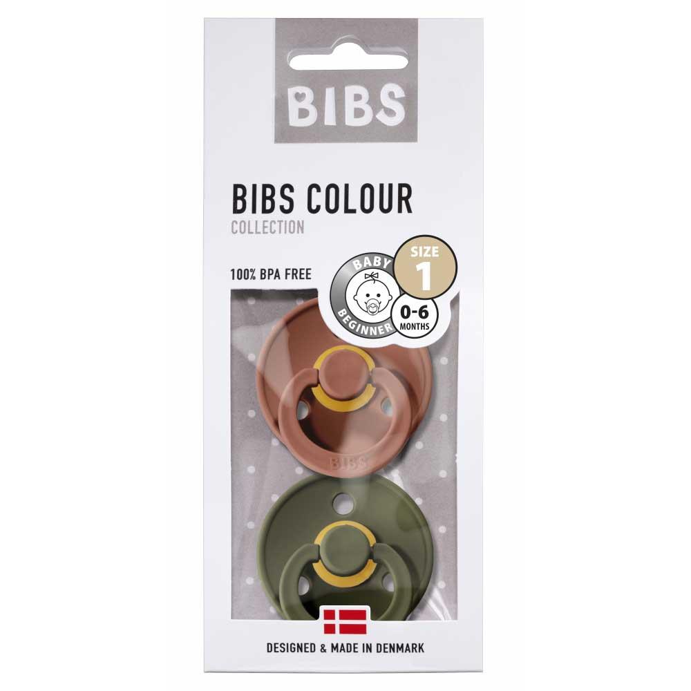 Bibs - Twin Dummy Pack Size 1 Woodchuck & Hunter green