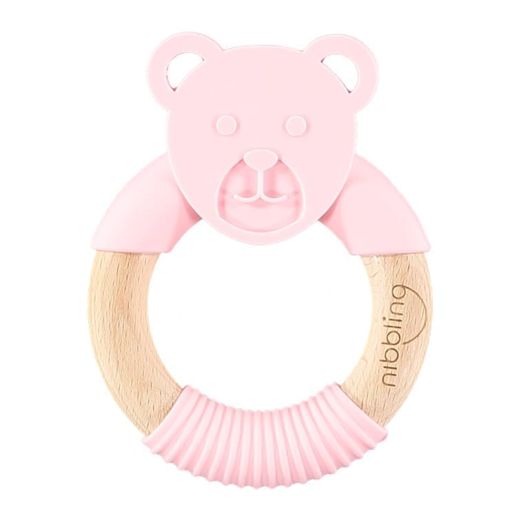 Nibbling - Ted Bear Forest Friends Teething toy  - Pink