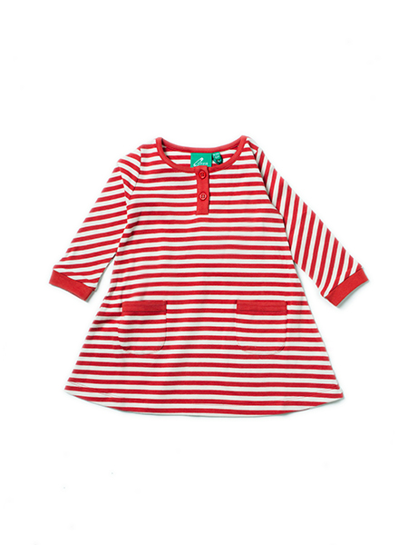 Little Green Radicals - LGR - Red Stripe Playaway Dress