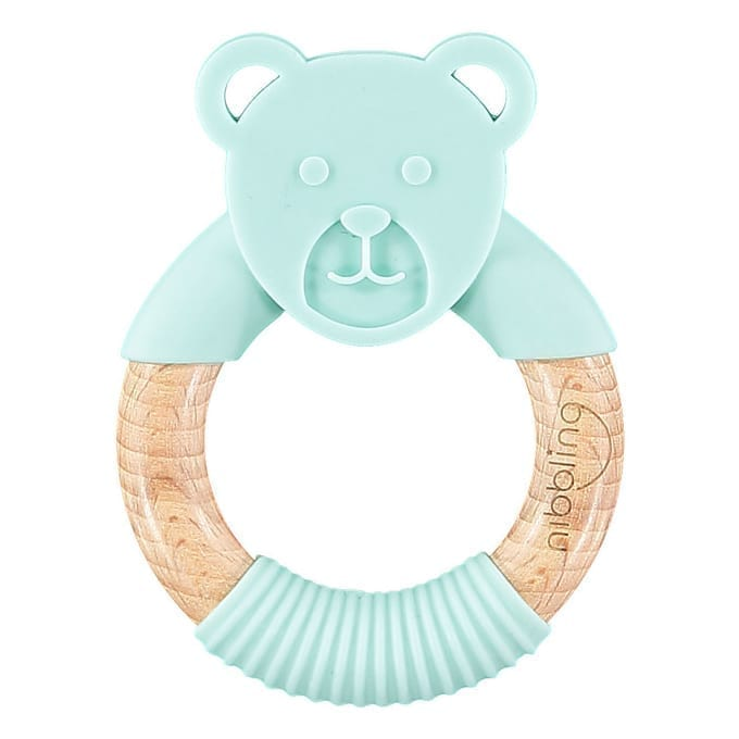 Nibbling - Ted Bear Forest Friends Teething toy  - Mint