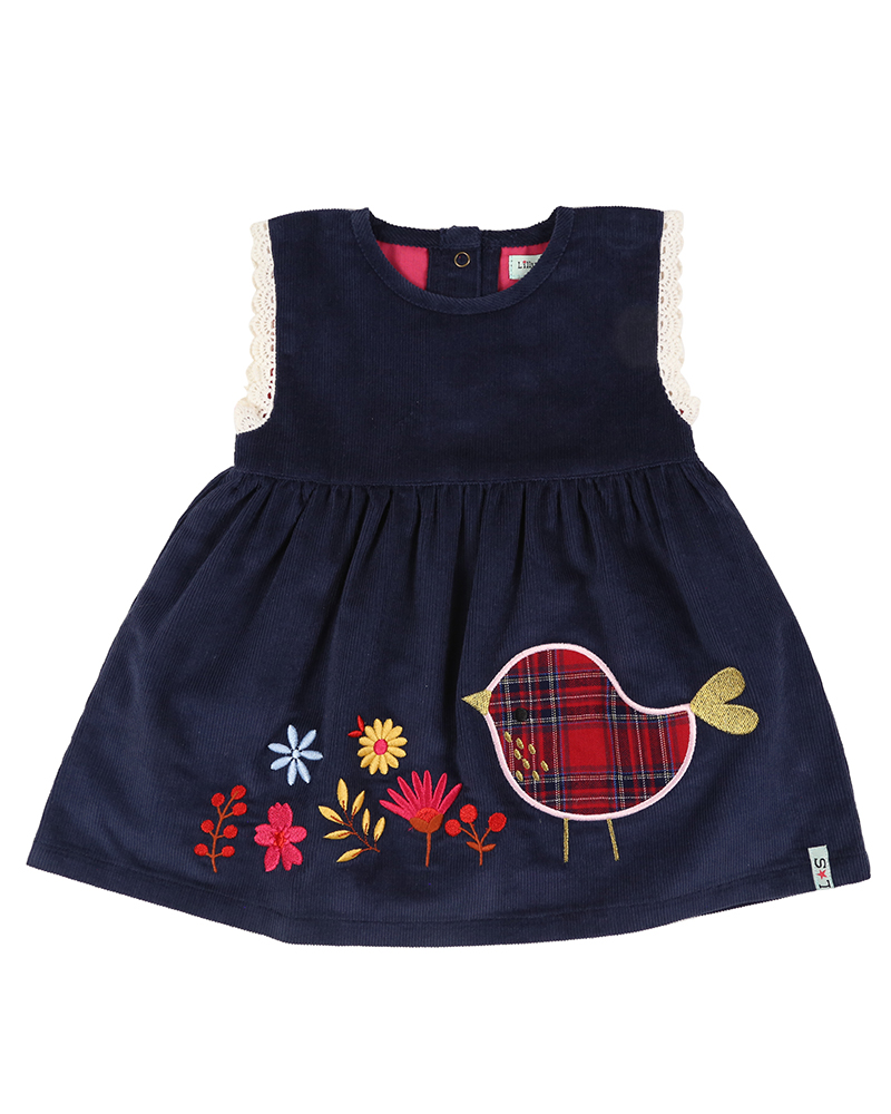 NEW - Lilly + Sid - Aapplique Hem Cord Dress