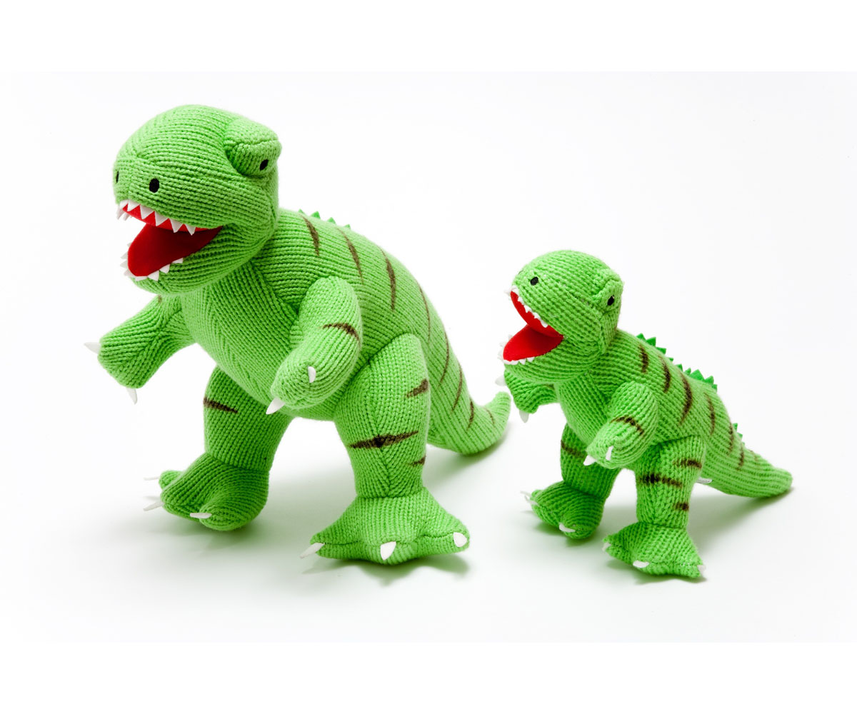 Best Years - Knitted Large Toy -T-Rex - Green