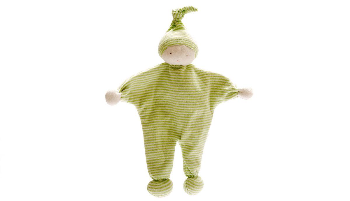 Under the Nile - Organic Baby Buddy – Green stripes