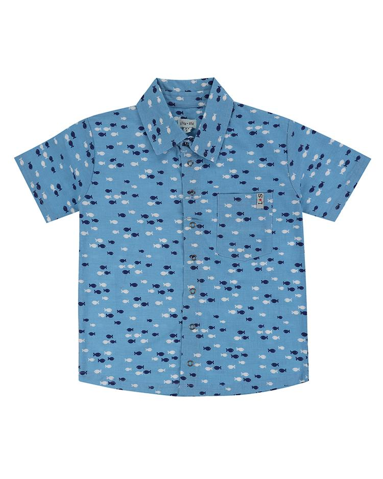 Lilly + Sid - Fish print shirt