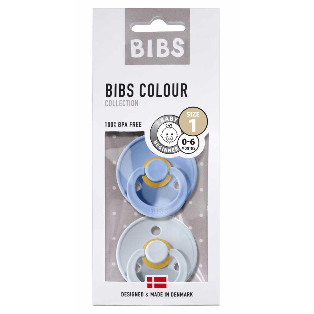 Bibs - Twin Dummy Pack Size 1 Sky blue & Baby blue