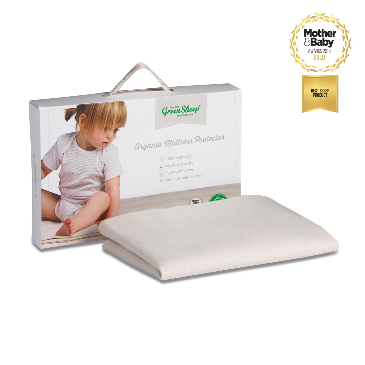 The Little Green Sheep Waterproof Crib Mattress Protector