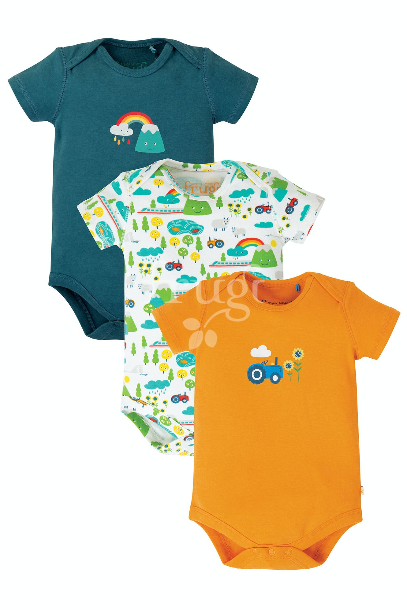 frugi - 3 pack body - Rainbow
