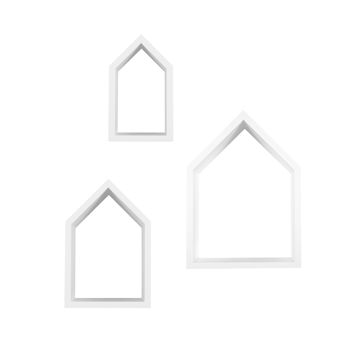Snuz House Shaped Nursery Shelves (Set of Three) - White
