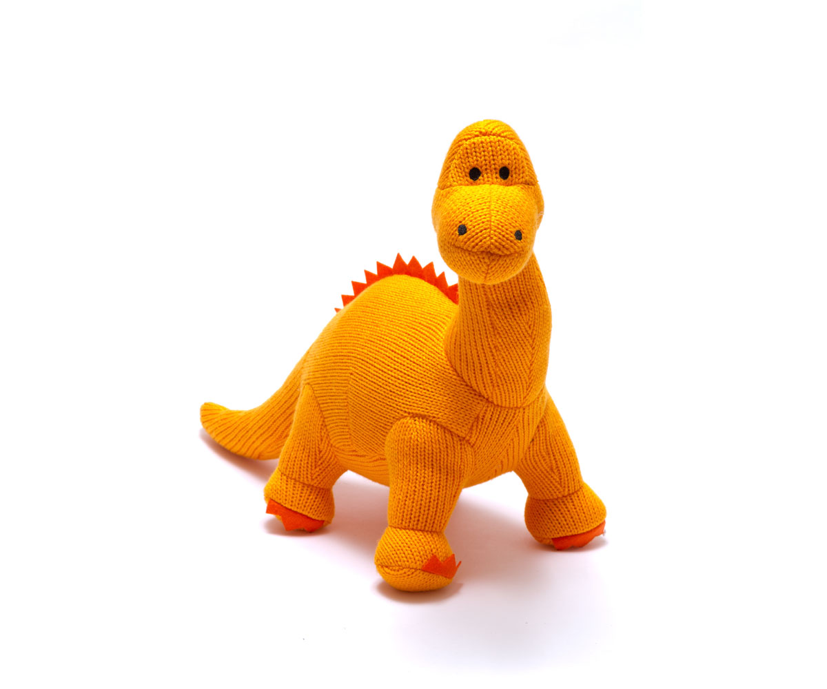 Best Years - Knitted large Toy - Diplodocus - Orange