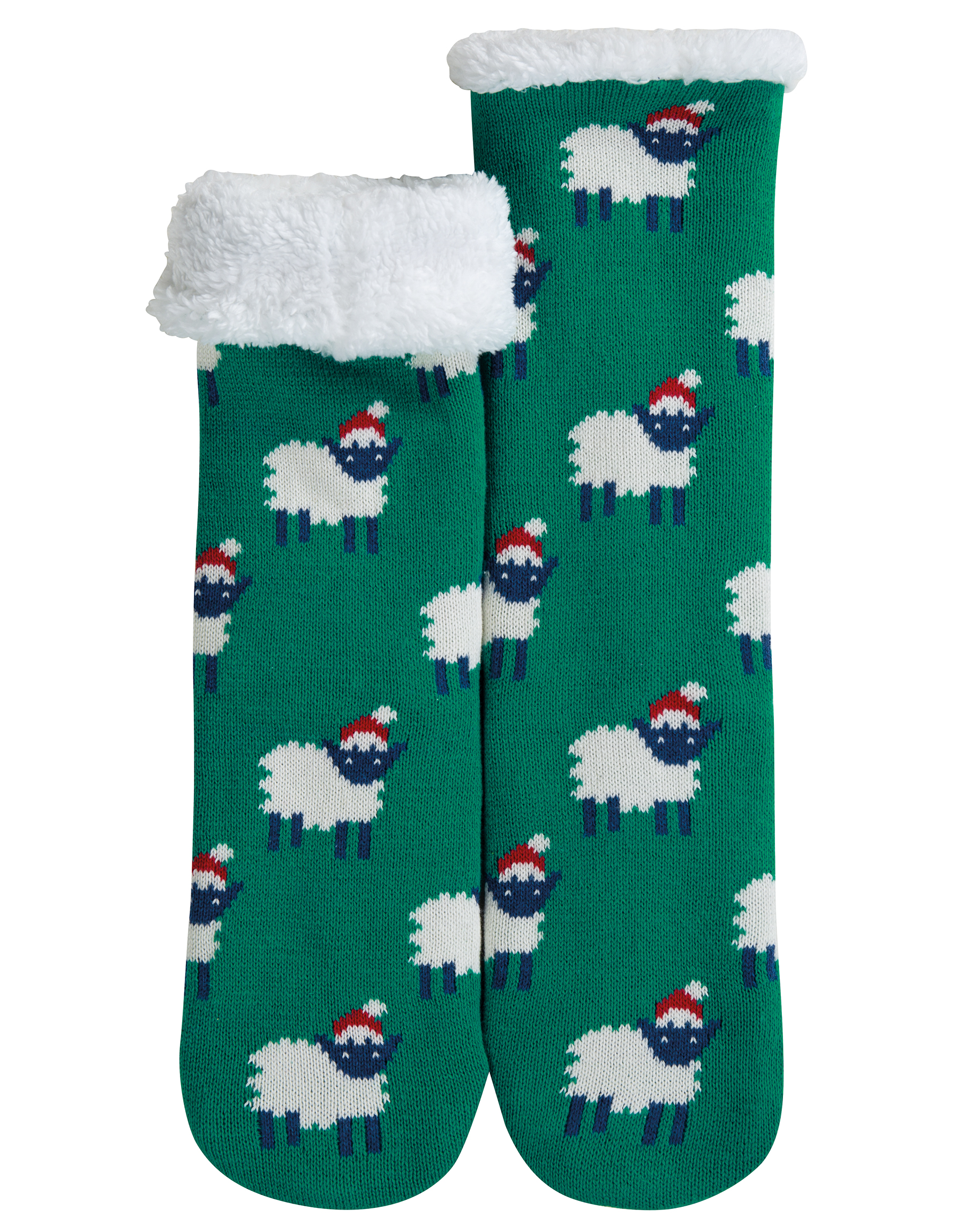 Frugi - Cosy up Socks Jade/Festive Sheep