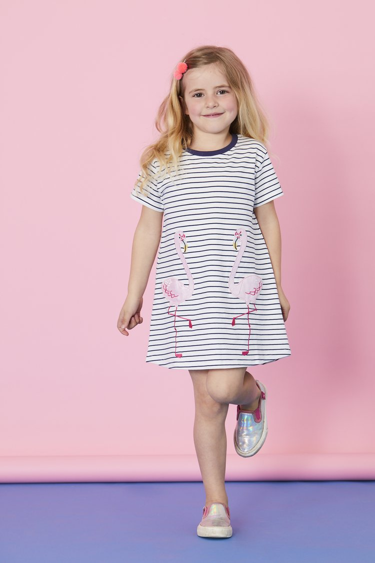 Lilly + Sid - Flamingo Pocket Dress