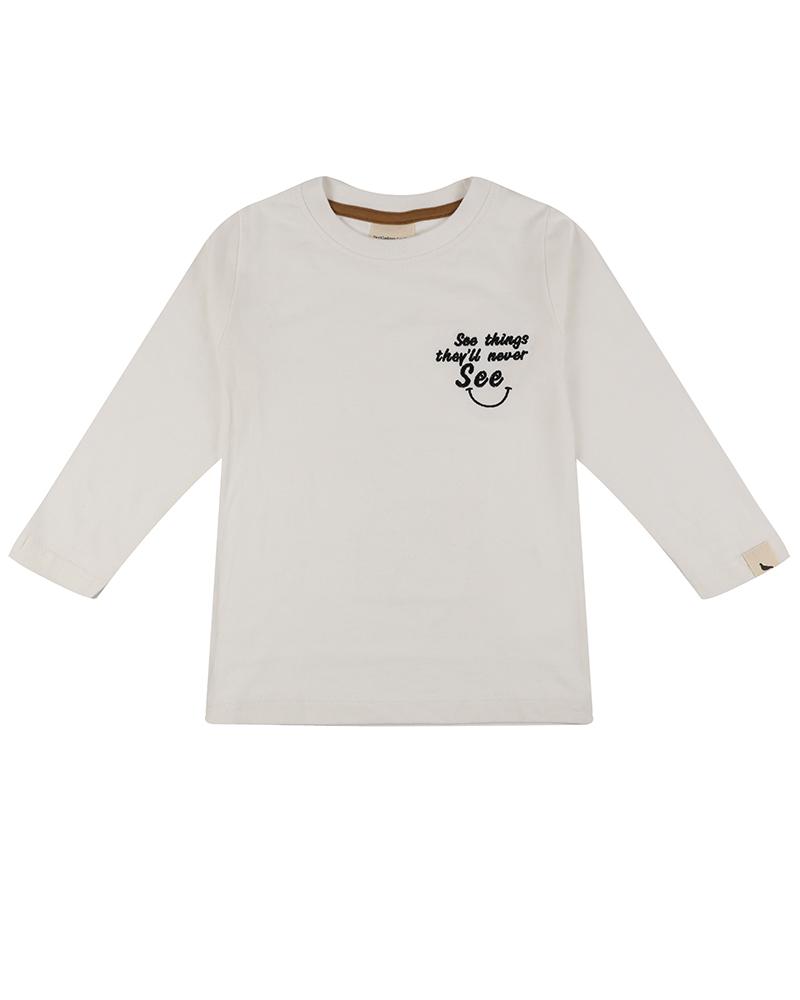 Turtledove London - Embroidered Pocket Top ECRU