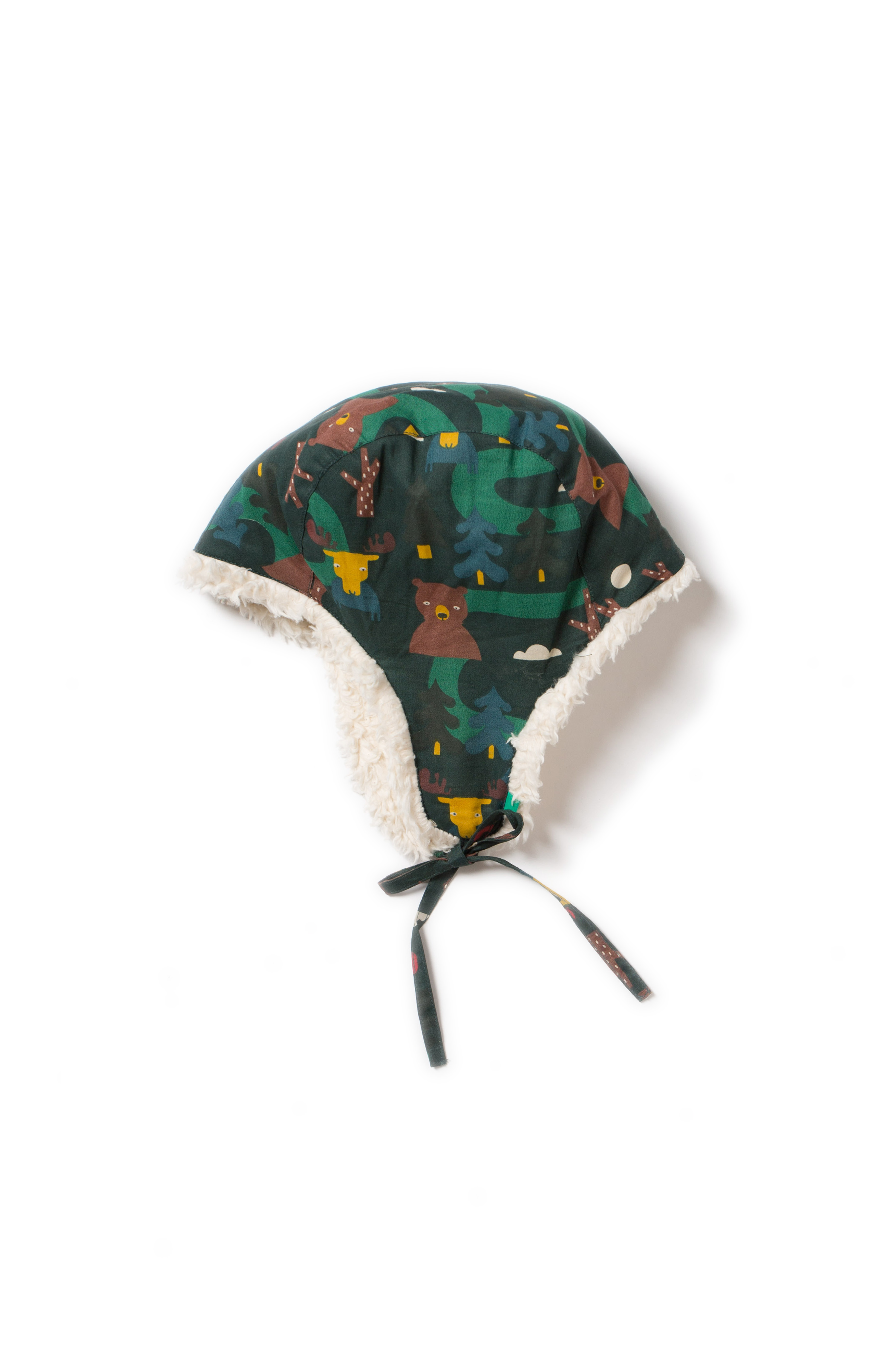 Little Green Radicals - Nordic forest sherpa hat
