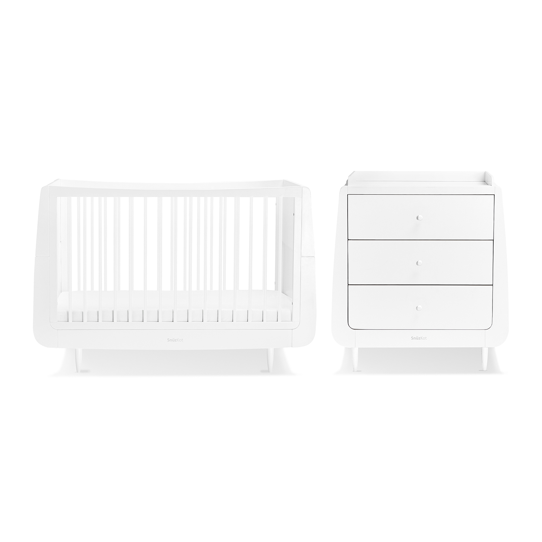 SnuzKot Skandi 2 Piece Nursery Furniture Set - White (SAVE £50)