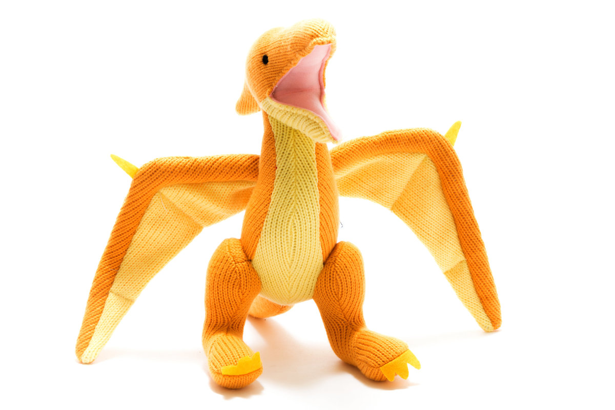 best years - Knitted Medium Toy - Pterodactyl - Yellow