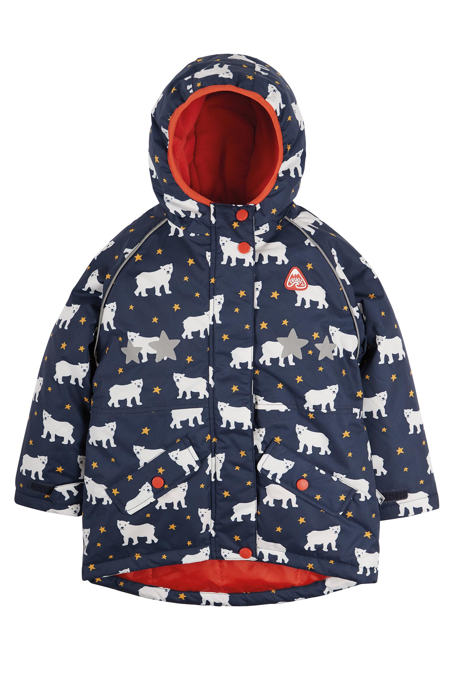 Frugi - Explorer Waterproof Coat, Polar Bears