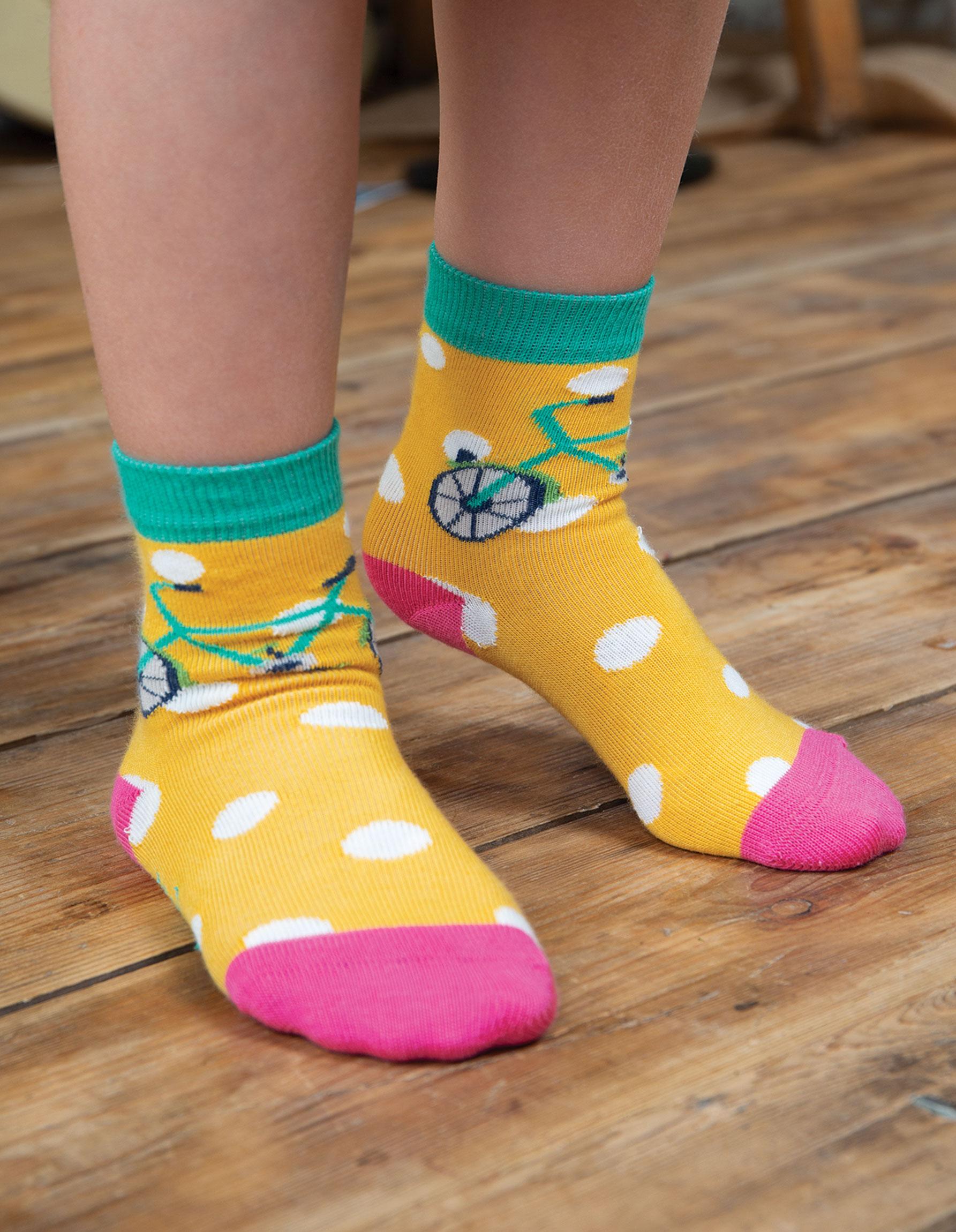 Frugi - Susie Socks 3 Pack, Transport Multipacku