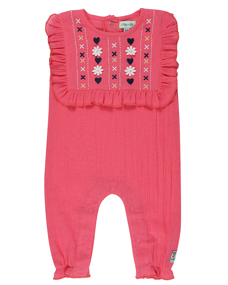 Lilly + Sid - Embroidered Yoke Jumpsuit