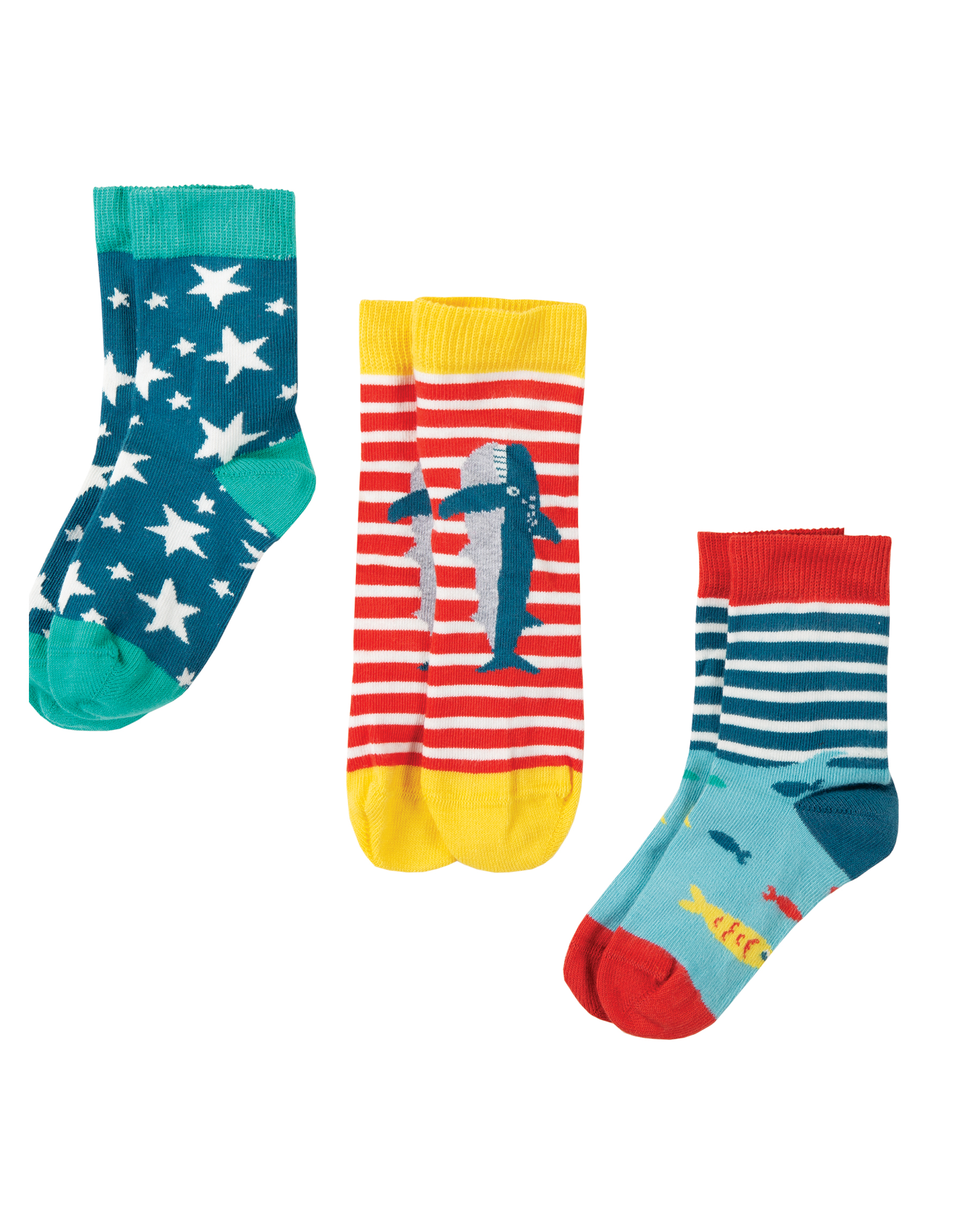 Frugi - Rock my socks 3 pack - Shark