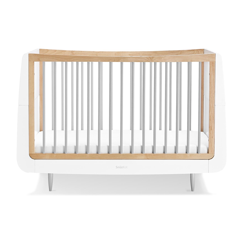 SnuzKot Skandi Cot Bed – Grey