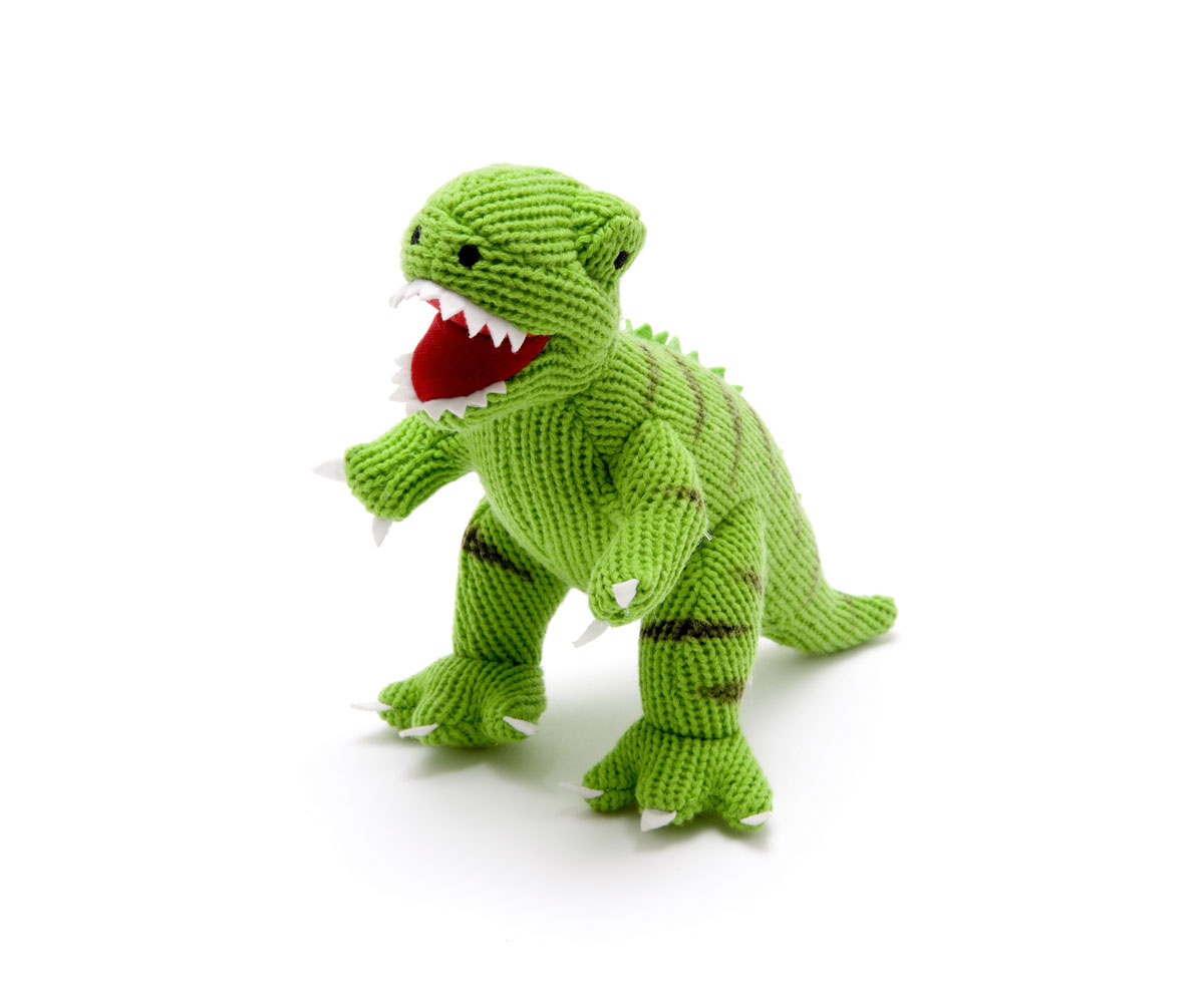 Best years - Knitted Medium Toy - T-Rex - Green