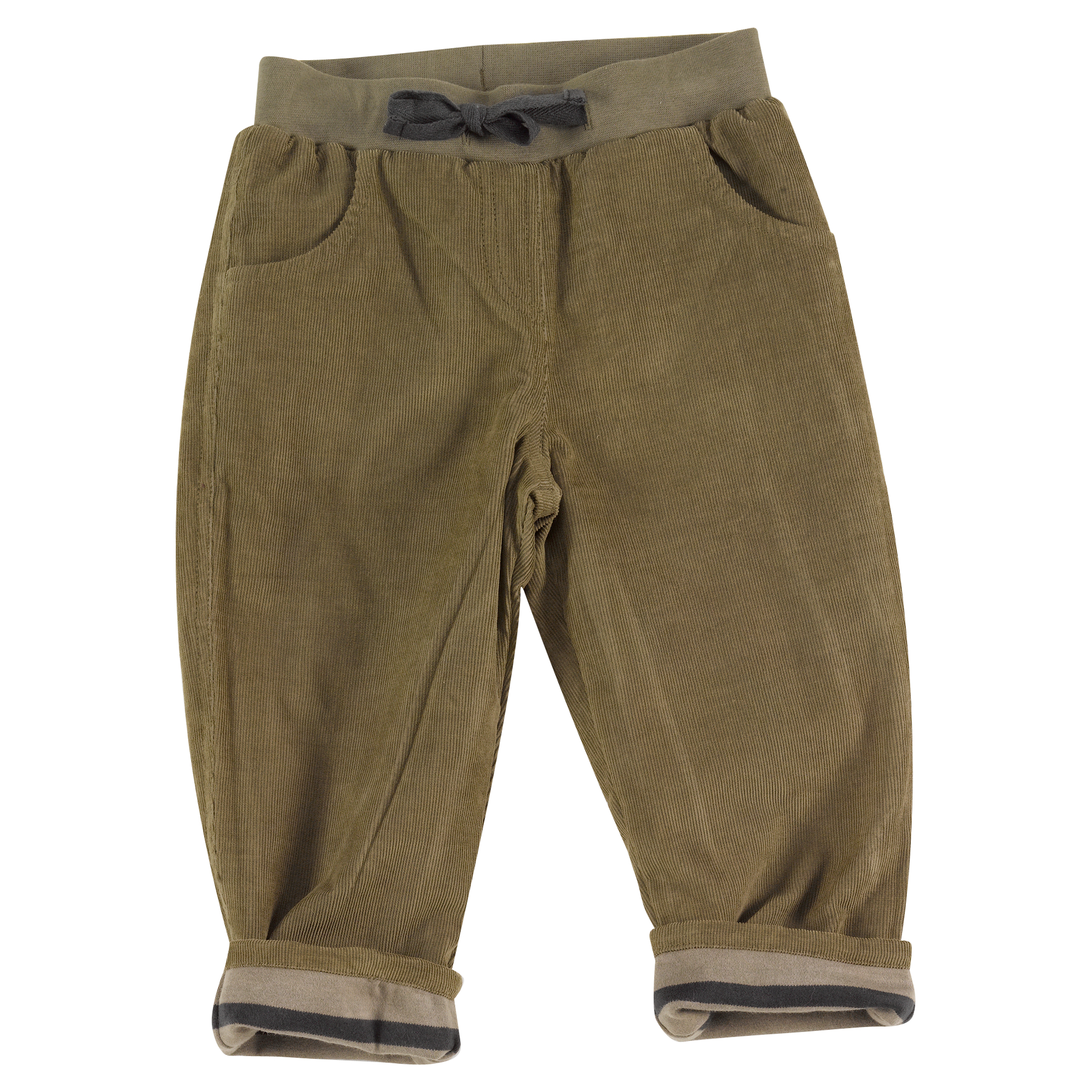 Pigeon - Lined Cord Trousers - Olive