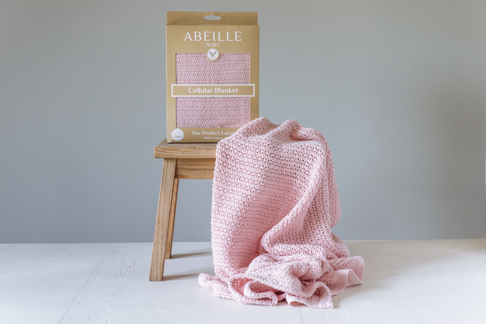 Abeille Cellular blanket - Queen (Pink)